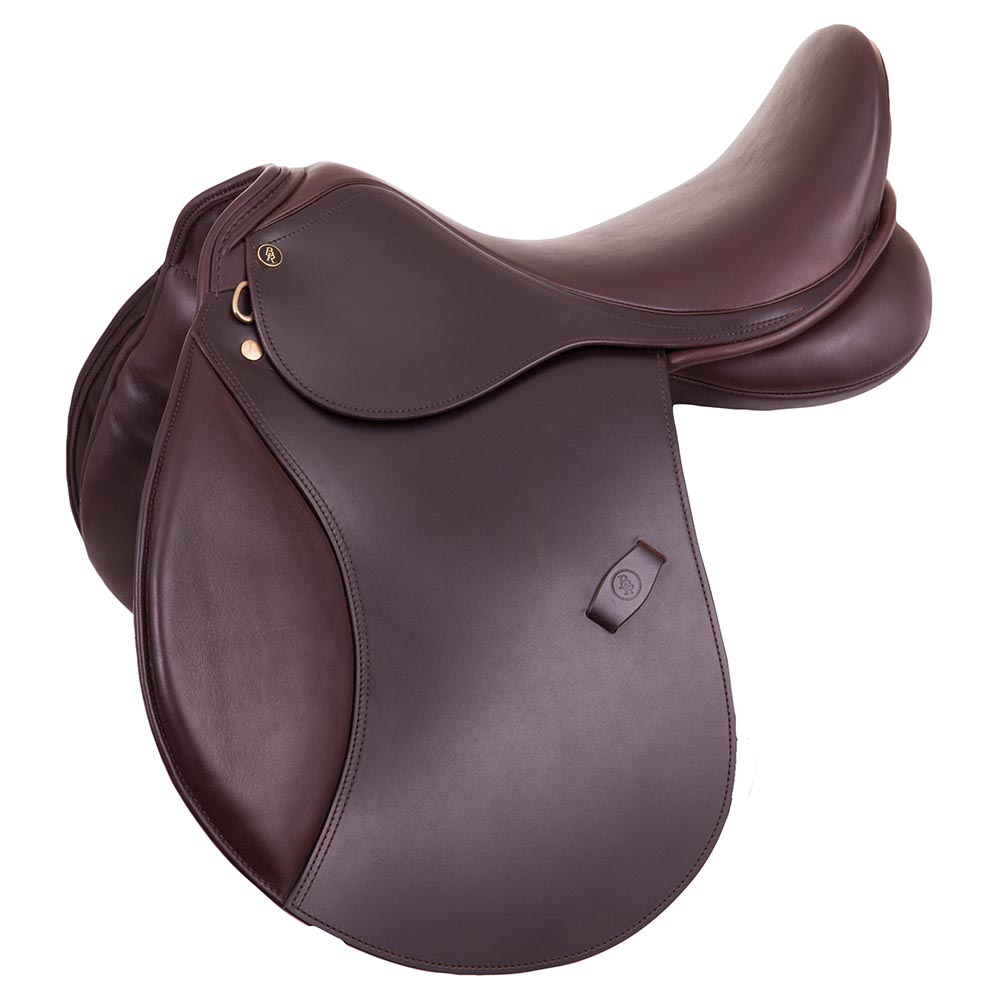 Comfortable general purpose saddle for ponies with an excellent seat and superior fit. The deep seat provides a stable leg position and a balanced seat. The knee rolls provide the desired support without limiting the freedom of the rider. The saddle has been built on a very durable, lightweight, thermoplastic nylon tree with two gullet bars (one at the bottom and one at the top for extra strength). The tree is adjustable by using a pressure machine, no heat needed. The saddle has been made of first-class English leather with a calf leather seat and soft padded knee pads. The  wool filled panels have been formed to fit the characteristic shape of the pony's back. With recessed safety stirrup bars.