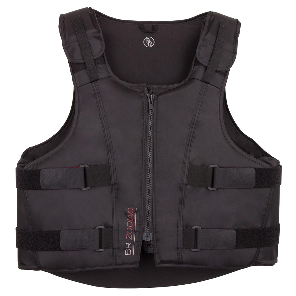 This flexible body protector for adults adapts perfectly to the contours of the body. The protective core consists of four separate layers of composite foam, which provides much more flexibility than a solid core. In addition, the material takes up body heat, as a result of which it can adapt to the body even more. The material is furthermore breathable and lightweight. The body protector's wide armholes combined with its supple material ensure maximum comfort and optimum freedom of movement. The protector can be adjusted on the shoulders and waist by means of Velcro closures. Thanks to the strong YKK zipper at the front, there is no need to use the Velcro closures, once the protector has been adjusted to the appropriate size. The foam layers can be removed from the protector by means of Velcro closures, which enables you to wash the outer material (polyester/nylon). The body protector meets the EN 13158-2009 level 3 safety standard. Also available for children, article 343009.