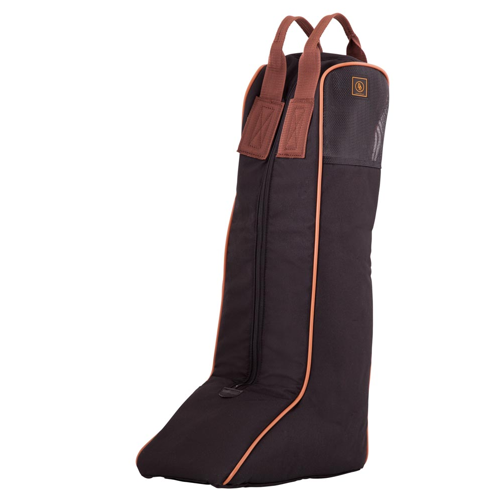 Beautiful, padded boot bag made of strong 600D polyester. The upper part is made in mesh for optimum ventilation of the boots. <BR> <BR> Height: 65 cm