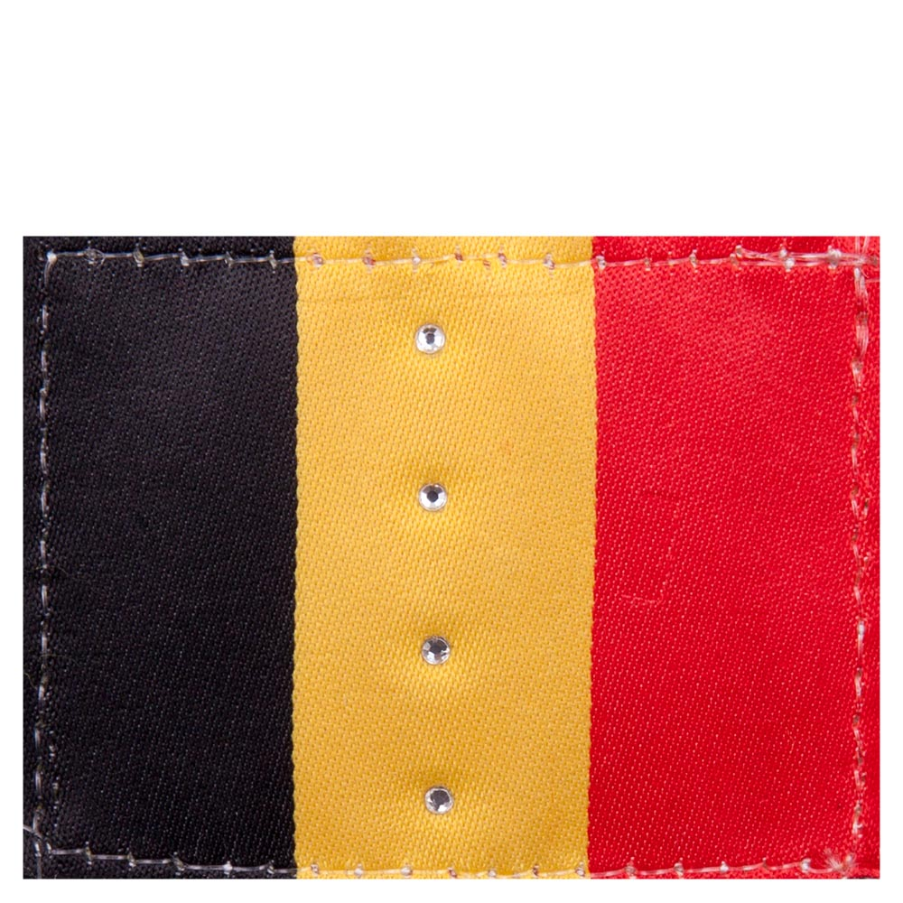 <i>Add a personal touch to the ANKY® bandages Pride with your national flag!</i><br><br>These flag badges can be attached to the ANKY® fleece bandages Pride, item A30312, with Velcro. The flags are embellished with little gemstones and come in a set of 4. You can choose from the following flags: the Netherlands (RWB), Denmark, Belgium and Great Britain.