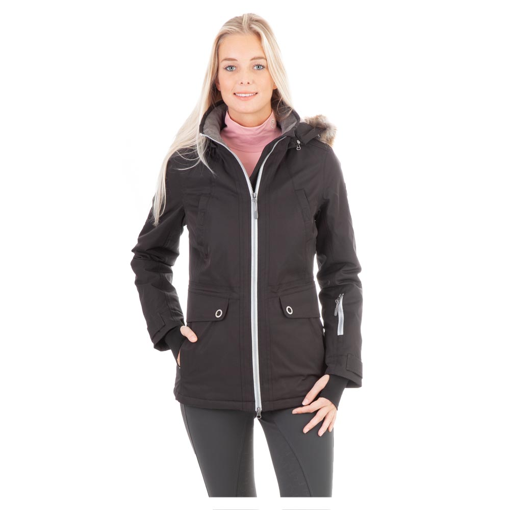 Do not compromise style for comfort: the Performance Parka offers both. Has a total of six functional pockets and two backside slits with zippers. The tightness of the waist can easily be adjusted to create a feminine fit. The extended thumb-hole cuffs and detachable hood with artificial fur trim ensure warmth all winter. With stunning silver coloured zippers and round buttons. <br><br>100% Polyester